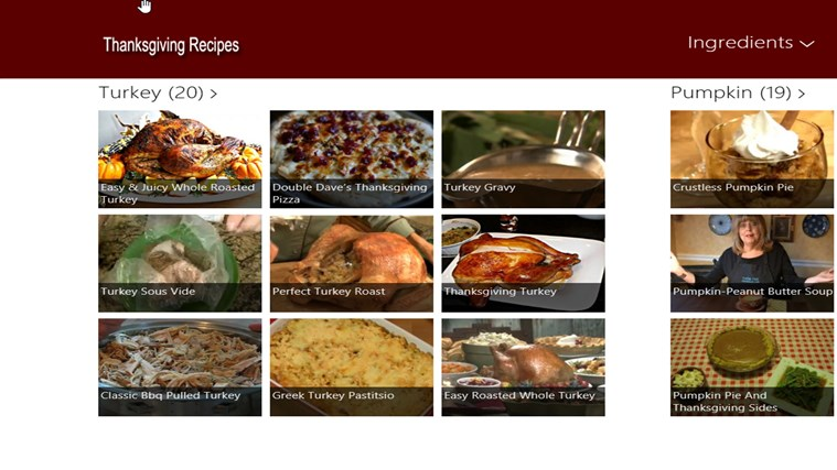 Thanksgiving Food screen shot 3