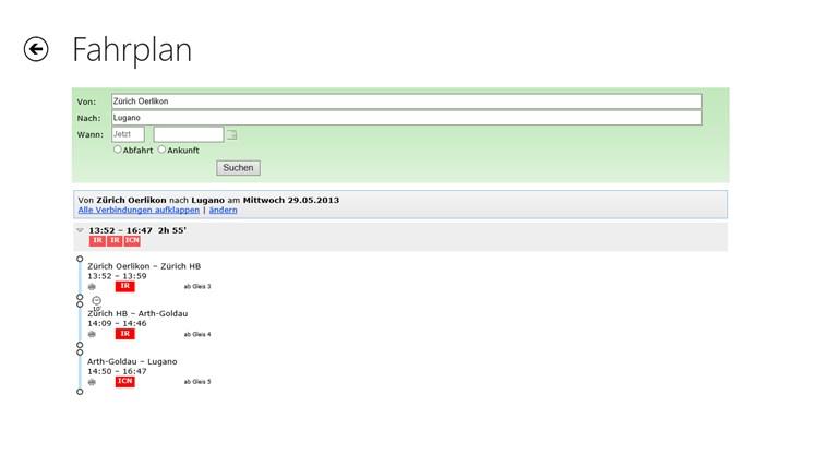 search.ch Screenshot 1