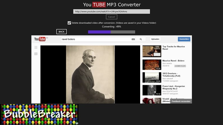 Youtube MP3 Converter screen shot 1
