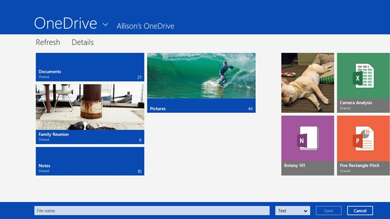 OneDrive screen shot 1
