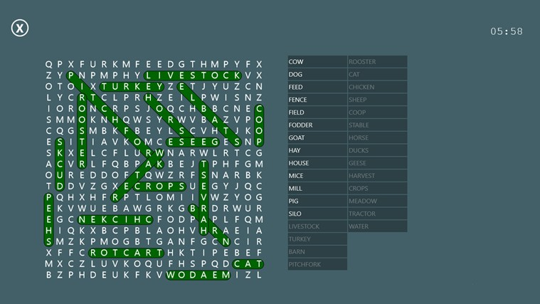 Word Search Party screen shot 7