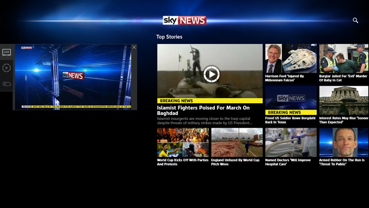 Sky News-skärmbild 3