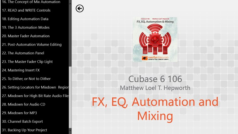 Cubase 6 106 - FX, EQ, Automation and Mixing tangkapan skrin 1