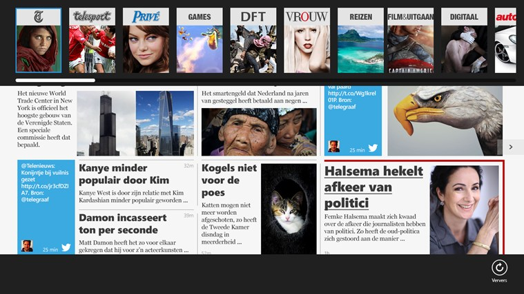 De Telegraaf screen shot 1