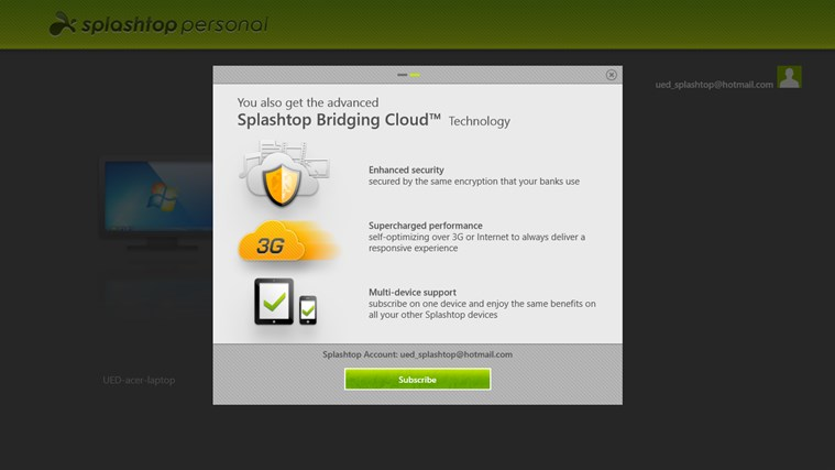 Splashtop Personal - Remote Desktop screen shot 1