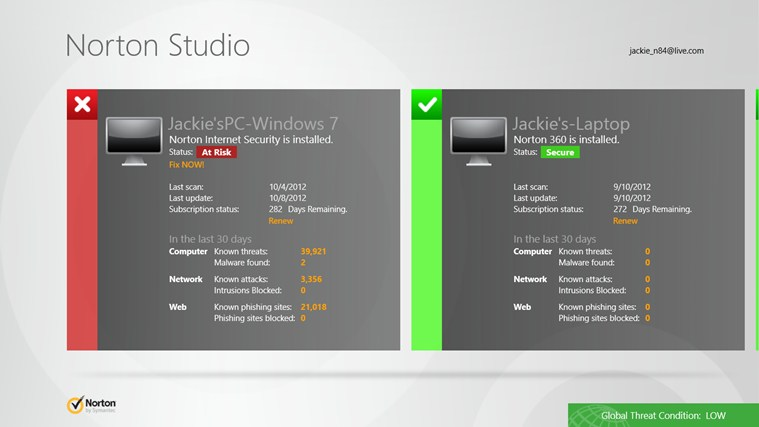 Norton Studio screen shot 1