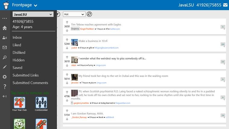 Redditting screen shot 3