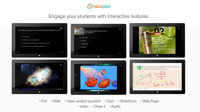 Nearpod screen shot 3