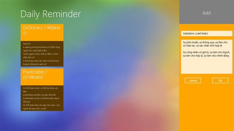 Tiles Reminder screen shot 1