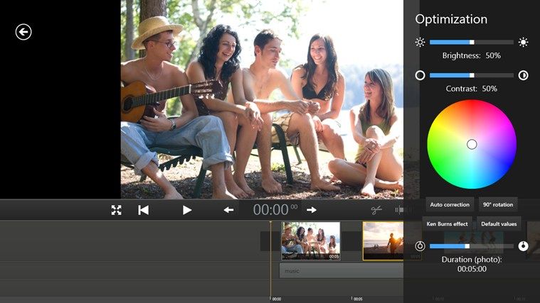 Movie Edit Touch screen shot 3