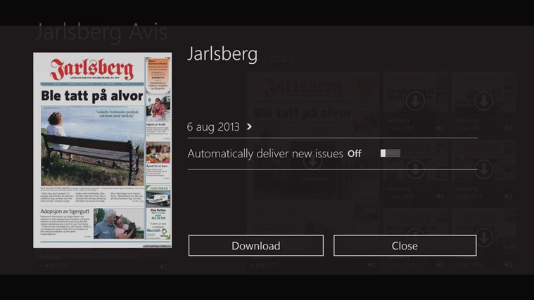 Jarlsberg Avis screen shot 1