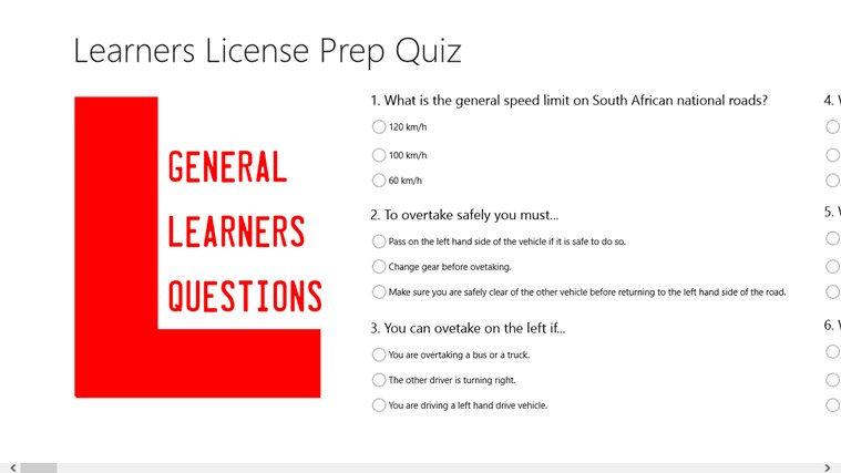 Learners License Prep Quiz skjermbilde 1