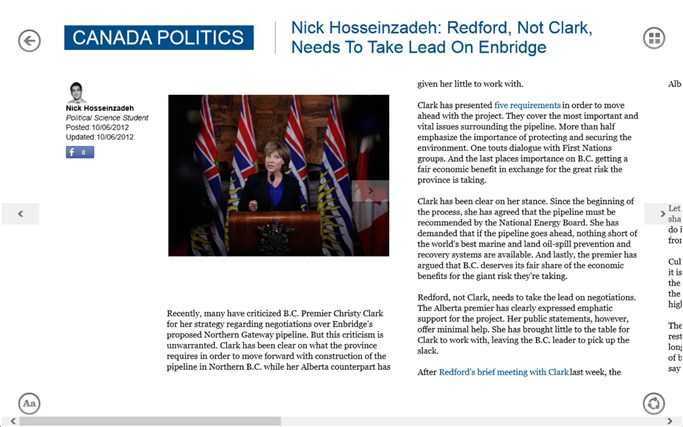 The Huffington Post Canada screen shot 3