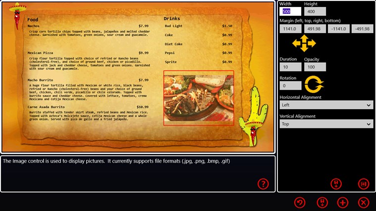 My Digital Menu Boards screen shot 1
