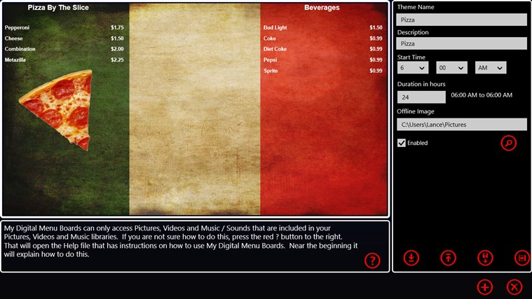 My Digital Menu Boards screen shot 5