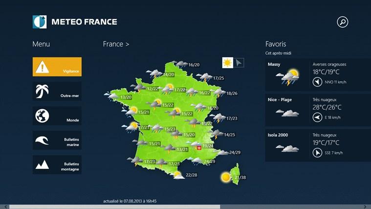 Météo-France capture d'écran 1