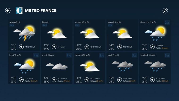 Météo-France capture d'écran 5