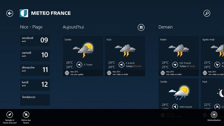 Météo-France capture d'écran 7