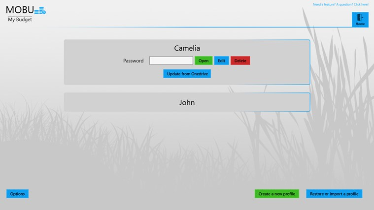 MoBu - Financial management screen shot 1