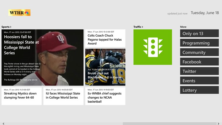 WTHR screen shot 1
