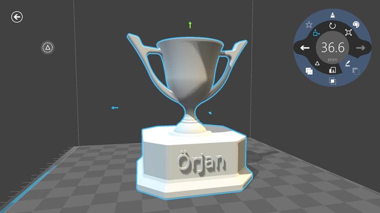 3D Builder-skärmbild 3