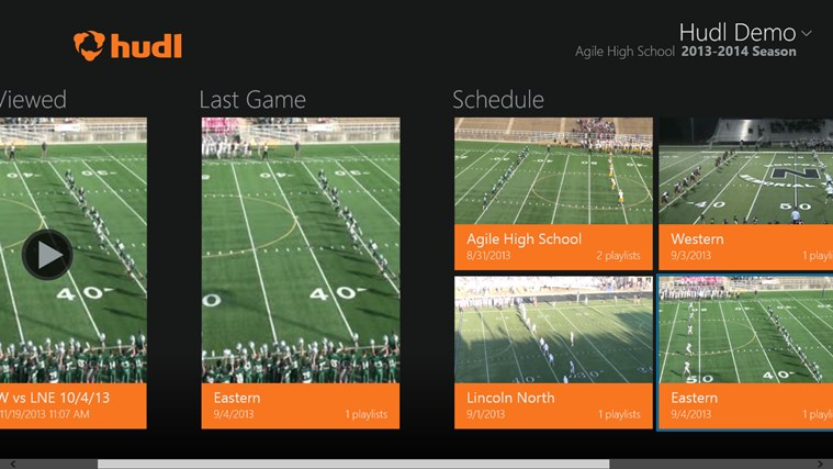 Hudl screen shot 1