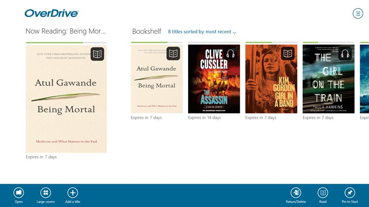 OverDrive - Library eBooks & Audiobooks screen shot 1