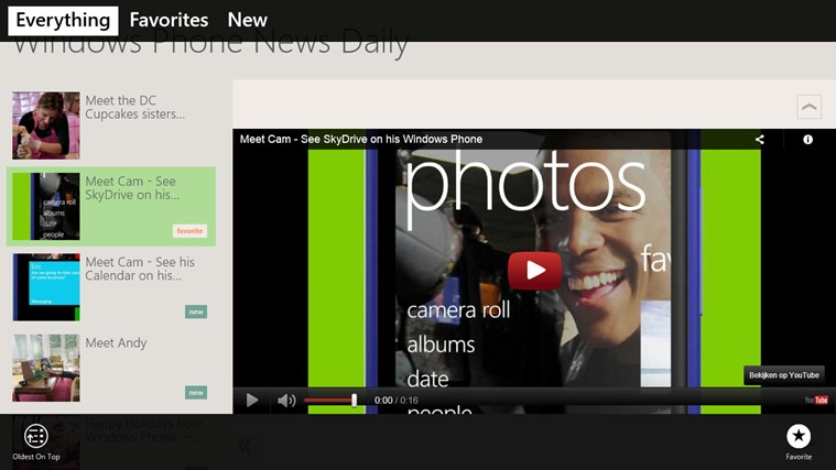 Windows Phone News Daily screen shot 1