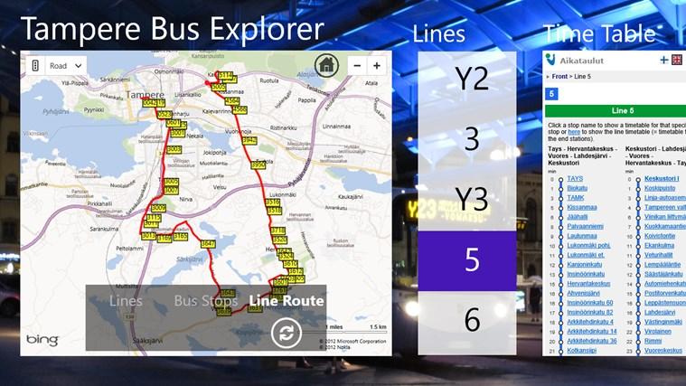 Tampere Bus Explorer screen shot 1