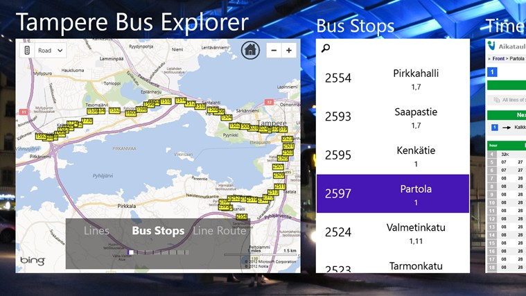 Tampere Bus Explorer screen shot 5