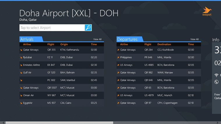 Doha Airport + Flight Tracker screen shot 1