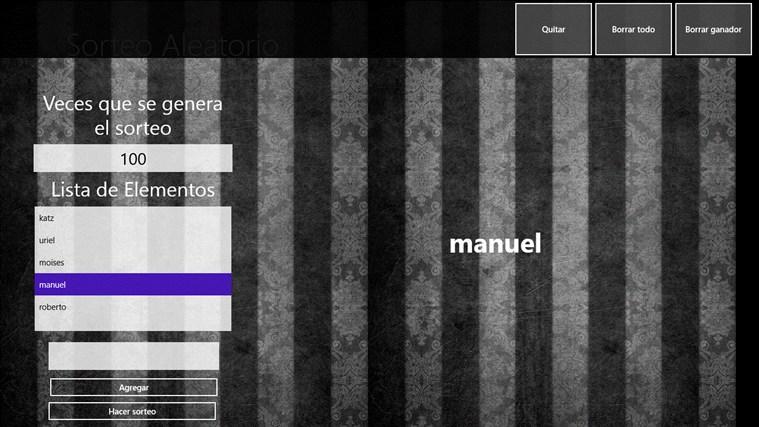 Sorteo Aleatorio captura de pantalla 3