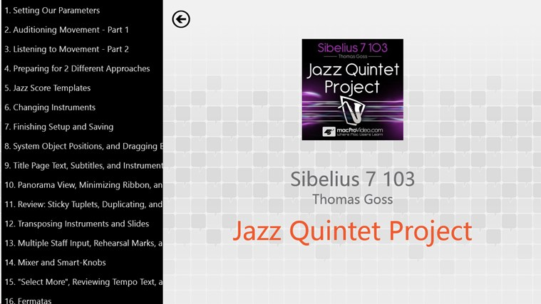 Sibelius 7: Jazz Quintet Project captură de ecran 1