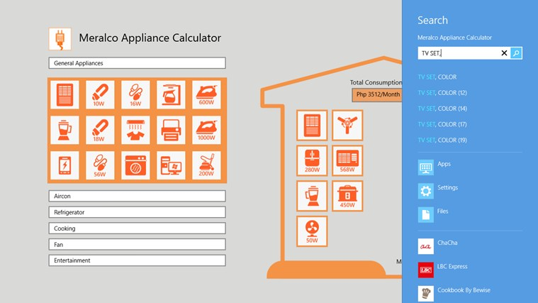 Meralco Appliance Calculator screen shot 5