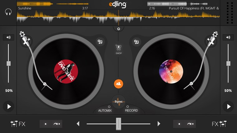 edjing - DJ mixer console studio - Play, Mix, Record & Share your sound! skjermbilde 1