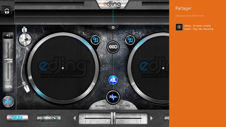 edjing - DJ mixer console studio - Play, Mix, Record & Share your sound! skjermbilde 5