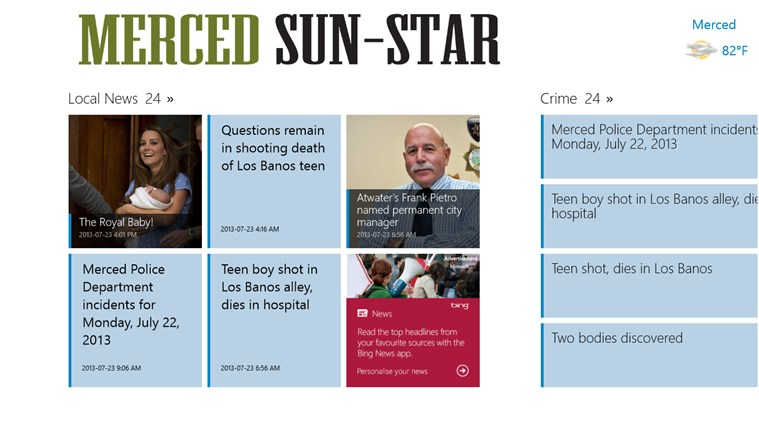 Merced Sun-Star screen shot 1
