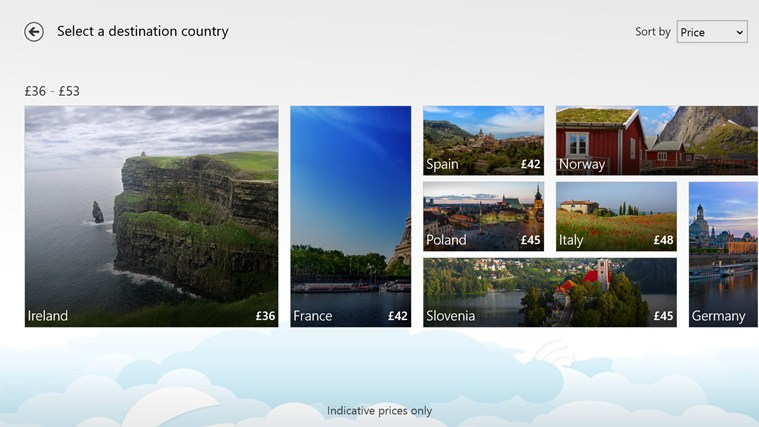 Skyscanner screen shot 1