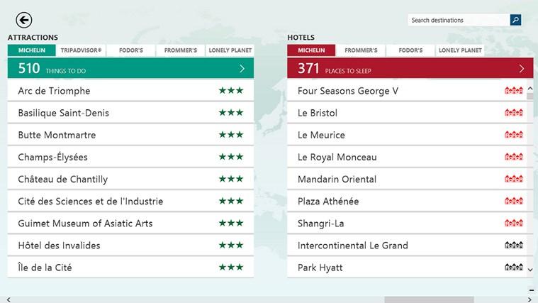 Bing Travel screen shot 3