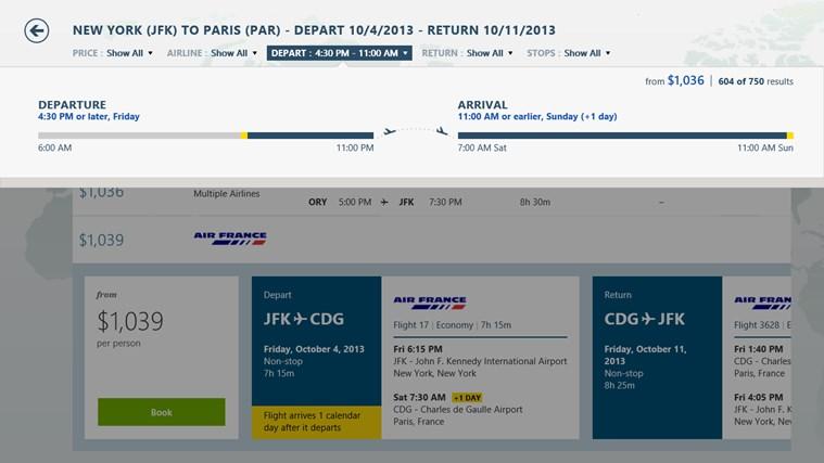 Bing Travel screen shot 7