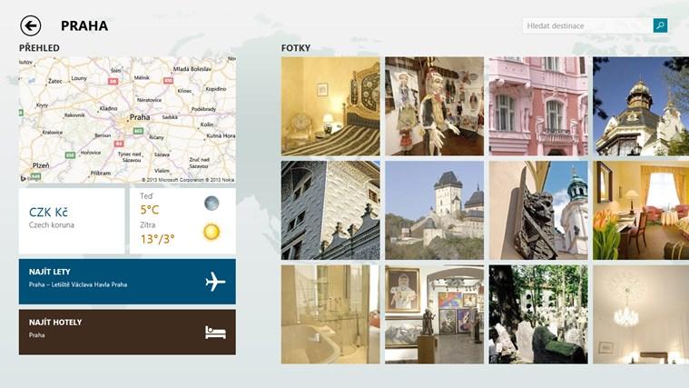 Cestování Bing snímek obrazovky 1