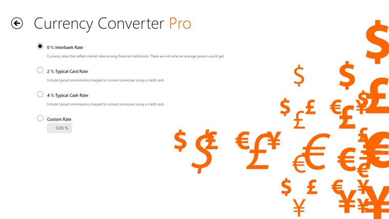 Currency Converter Pro צילום מסך 7