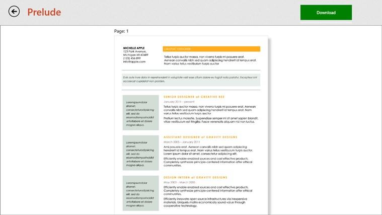 Resume templates umfanekiso weskrini 5