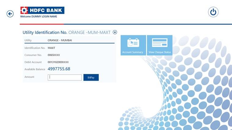 HDFC Bank screen shot 1