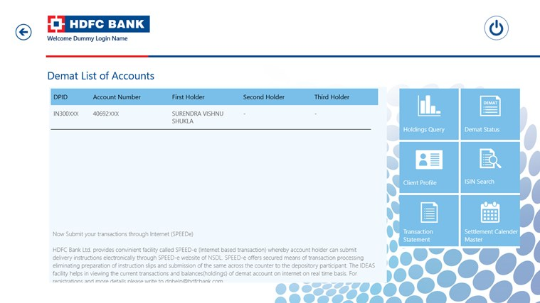 HDFC Bank screen shot 5