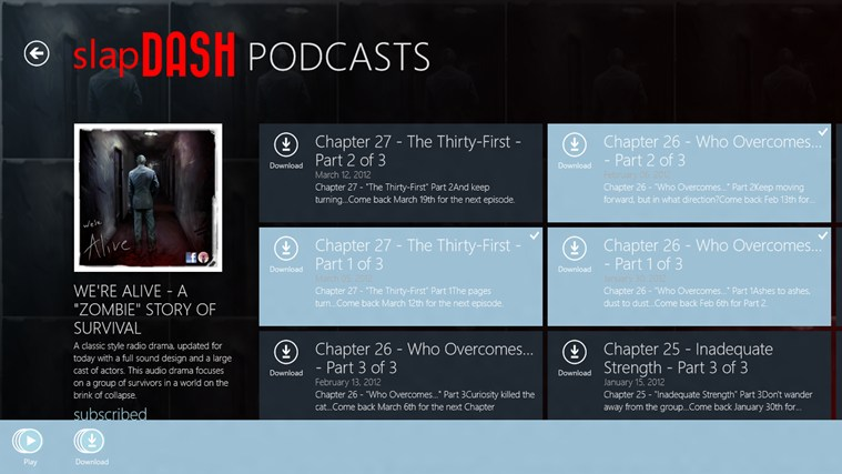 SlapDash Podcasts Pro screen shot 1