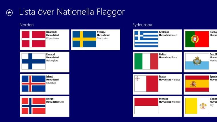 Värld Nationsflaggor-skärmbild 1