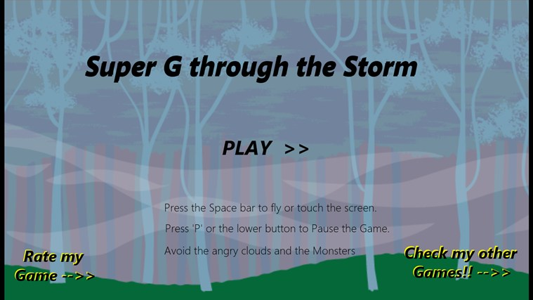 Super G Storm screen shot 1