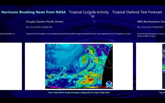 Hurricane and Tropical Storm Report screen shot 1
