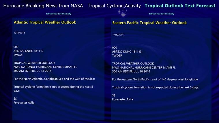Hurricane and Tropical Storm Report screen shot 3